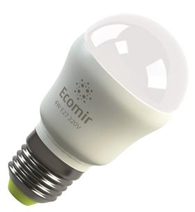 Светодиодная (LED) лампа Ecomir 4W(4 вт) E27, 220V, желтый свет 3000к,световой поток 400лм (42913)