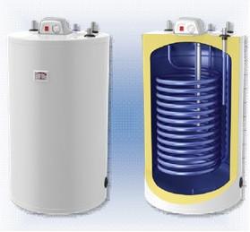 Напольный бойлер с теплообменником 42 кВт, с верхн. подключ. под газовый котел Parpol VSZ 150