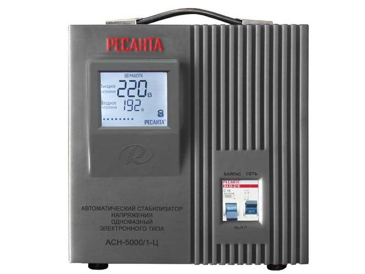 Стабилизатор напряжения однофазный REXANT АСН-5000/1-Ц