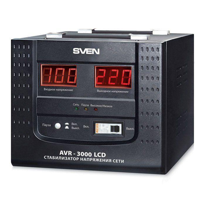 Автоматический стабилизатор напряжения SVEN AVR-3000 LCD, клеммное подключение