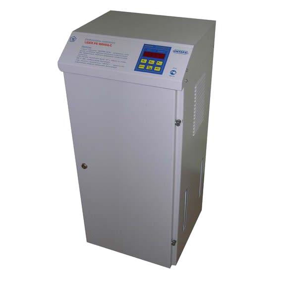 Однофазный стабилизатор напряжения LIDER PS 5000 SQ-C-25
