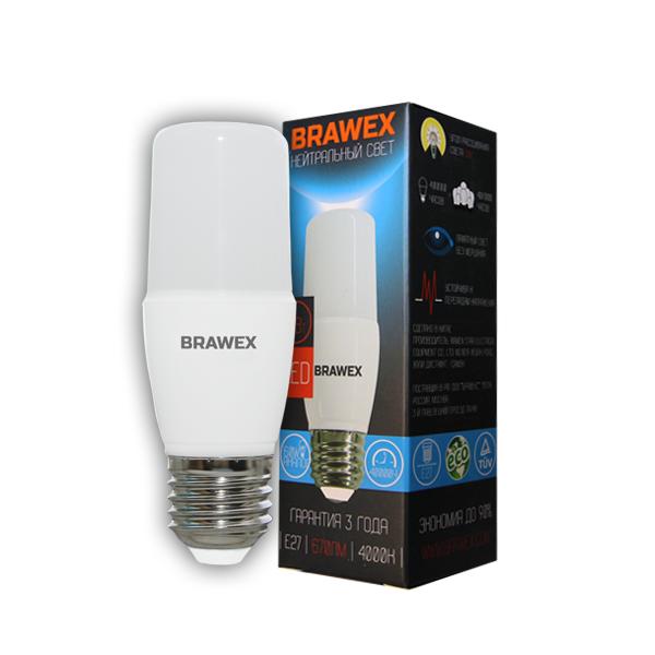 Светодиодная лампа BRAWEX 7Вт 4000К T7 Е27 5307A-T7A-7N
