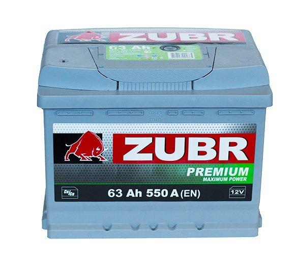 Аккумуляторная батарея ZUBR Premium 63 R+