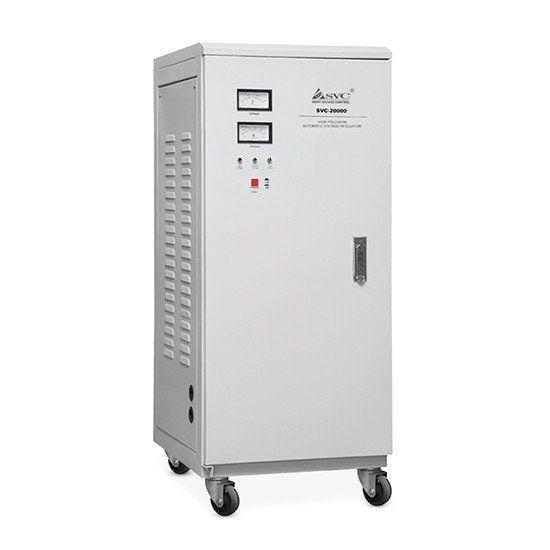 Стабилизатор SVC-3-60000, 60000ВА / 48000Вт, 380В, 45-60 Гц, 695*560*1280 мм