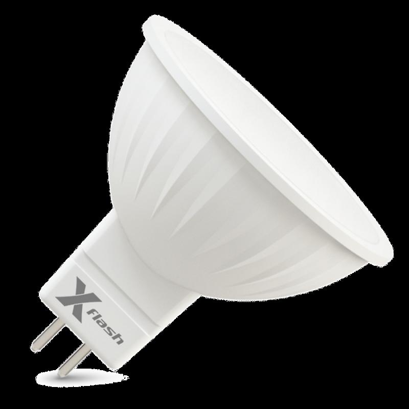 Светодиодная (LED) лампа X-Flash Spotlight MR16 P GU5.3 3W(3вт),желтый свет 3000K,световой поток 240лм, 220V (46164)