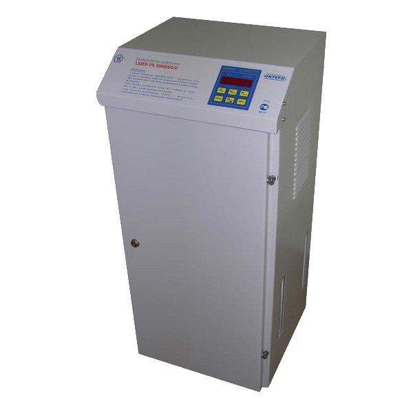 Однофазный стабилизатор напряжения LIDER PS 5000 SQ-C-40