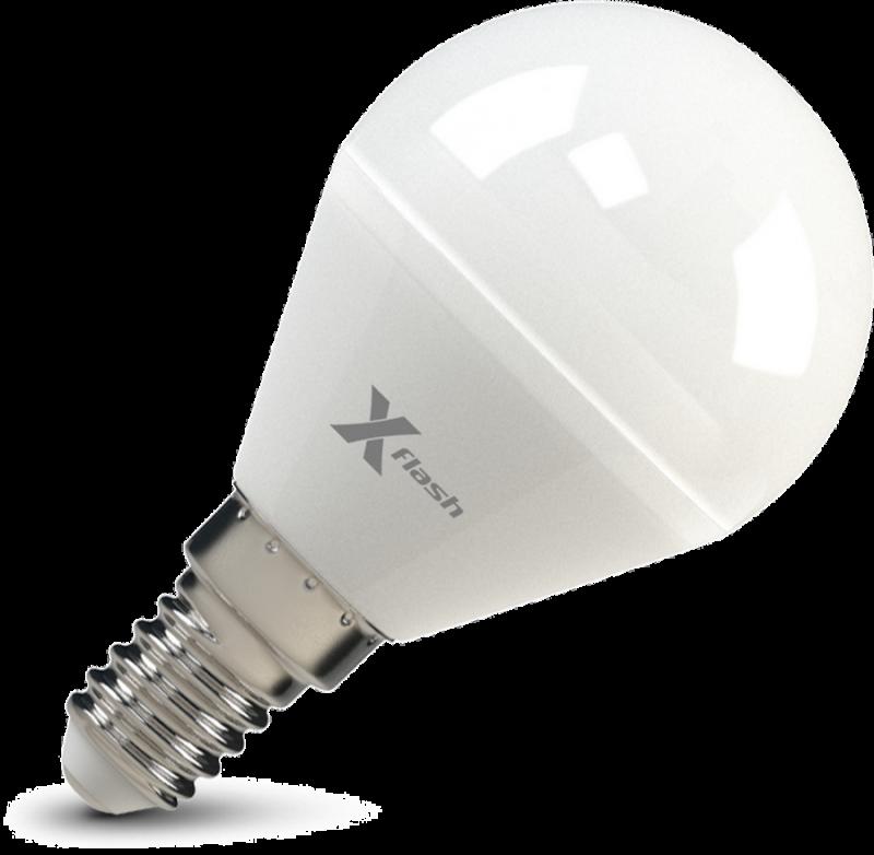 Светодиодная (LED) лампа X-Flash Globe E14 G45 P 5W(5вт),желтый свет 3000K, световой поток 380лм 12V (45914)