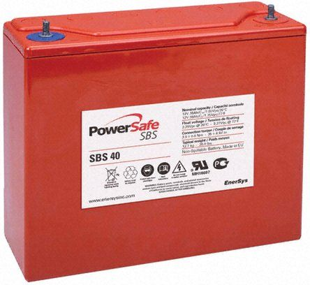 Аккумуляторная батарея EnerSys PowerSafe SBS 40