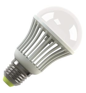 Светодиодная (LED) лампа Ecomir 7W(7вт), E27, 220V, желтый свет 3000к,световой поток 710лм (42937)