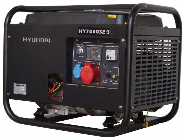 Однофазный бензиновый генератор HYUNDAI HY 7000