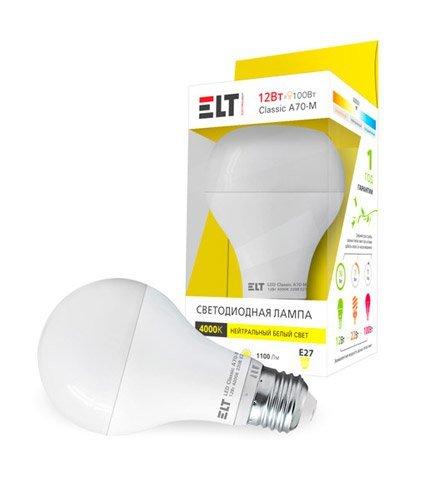 Светодиодная (LED) лампа ELT LED Classic A70-M 12W E27 4000