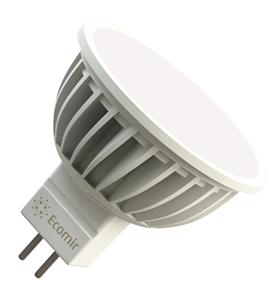 Светодиодная (LED) лампа Ecomir 4W(4вт), GU5.3, 220V, Желтый свет 3000К, Световой поток 300лм (43118)