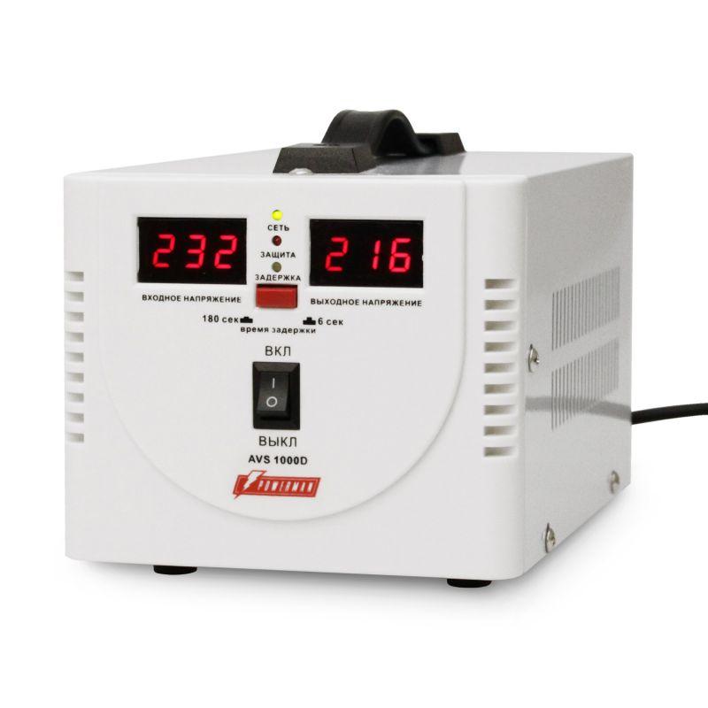 Однофазный стабилизатор напряжения POWERMAN AVS 1000D