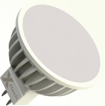 Светодиодная (LED) лампа X-Flash SPOTLIGHT MR16 GU5.3 4W(4вт),желтый свет 3000K,световой поток 300лм, 12V(в) (42999)