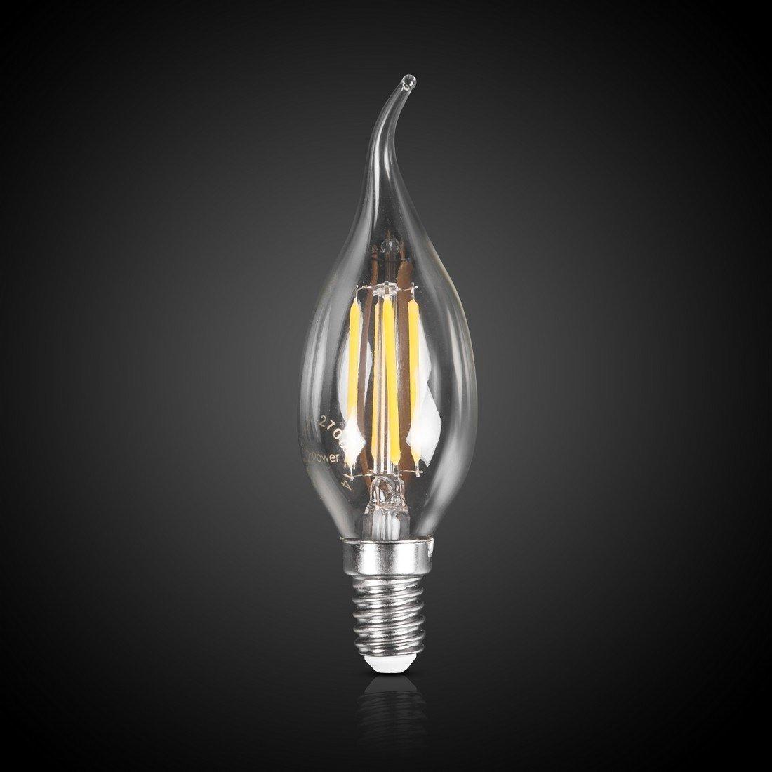 LED Лампа iPower Filament C37-F-4W-2700-E14