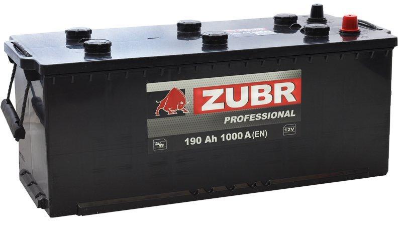 Аккумуляторная батарея ZUBR Professional 190 СНГ