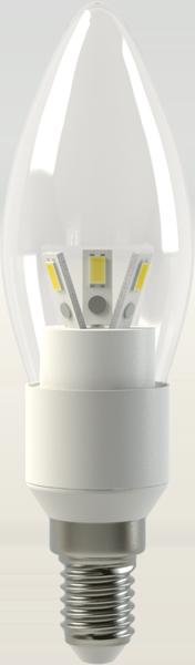 Светодиодная (LED) лампа X-Flash CANDLE E14 4W(4вт),желтый свет 3000K,световой поток 280лм (44030)