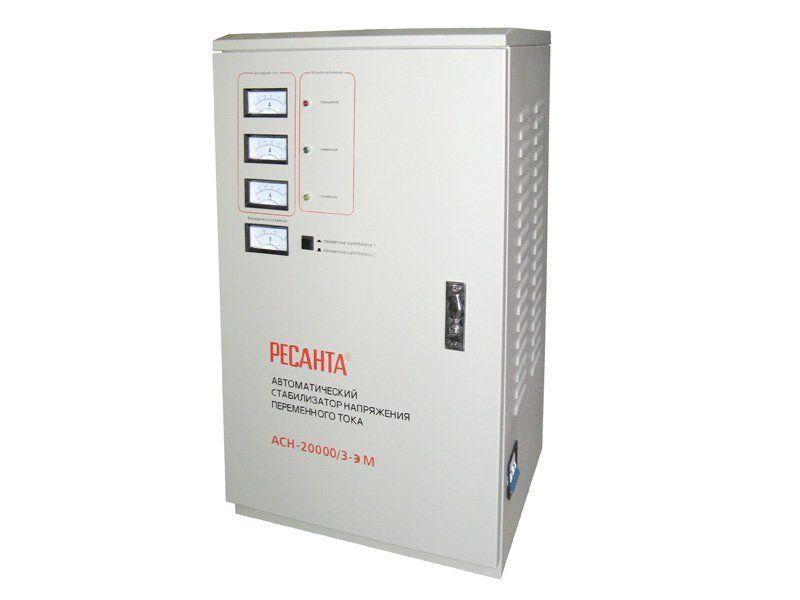 Трехфазный стабилизатор  напряжения Ресанта ACH-20000 /3 ЭМ