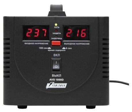 Однофазный стабилизатор напряжения POWERMAN AVS 1000D Black