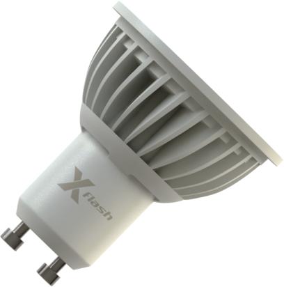 Светодиодная (LED) лампа X-Flash SPOTLIGHT MR16 GU10 5W(5вт),желтый свет 3000K,световой поток 350лм,220V (43064)