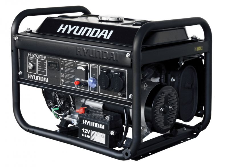 Однофазный бензиновый генератор Hyundai HHY3000F