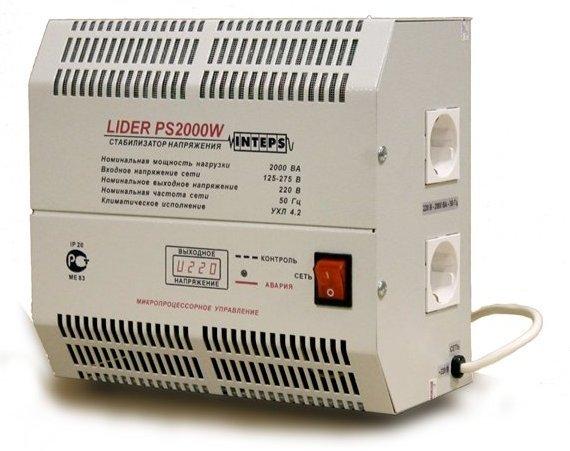 Однофазный стабилизатор напряжения LIDER PS 2000 W-30