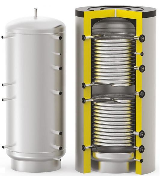 Бойлер косвенного нагрева для проточного нагрева ГВС через змеевик S-Tank HFWT DUO-2000