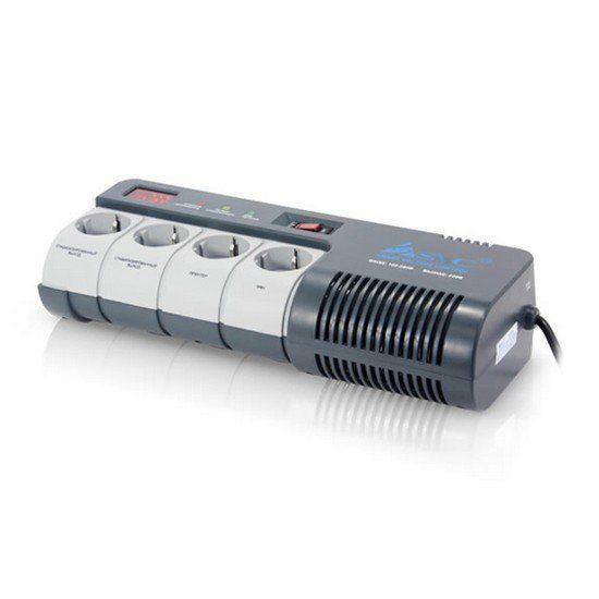 Стабилизатор SVC AVR-1012-G, 1200ВА / 720Вт, 220В, 50 Гц, серый, 417*136*90 мм