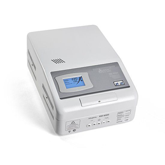 Стабилизатор SVC RW-9000, 9000ВА / 7000Вт, 220В, 50 Гц, серый, 515*345*290 мм