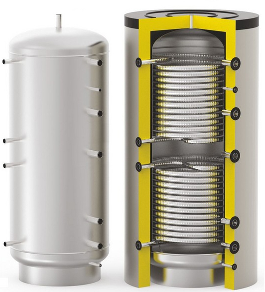 Бойлер косвенного нагрева для проточного нагрева ГВС через змеевик S-Tank HFWT DUO-500