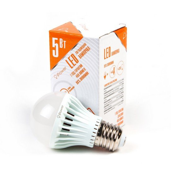 LED Лампа iPower IPHB5W2700KE27