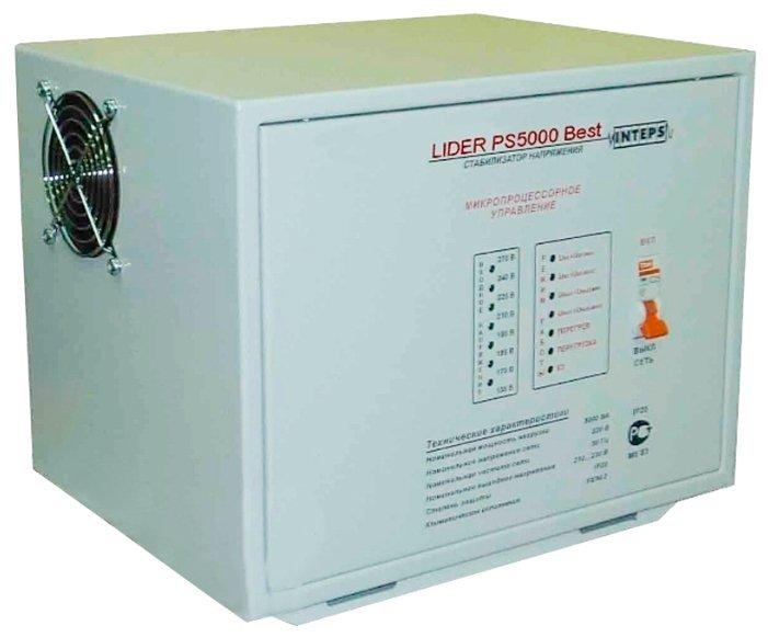 Однофазный стабилизатор напряжения LIDER PS 5000 Best