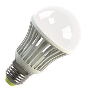 Светодиодная (LED) лампа Ecomir 9W(9вт), E27, 220V, Желтый свет 3000к,световой поток 930лм (42944)
