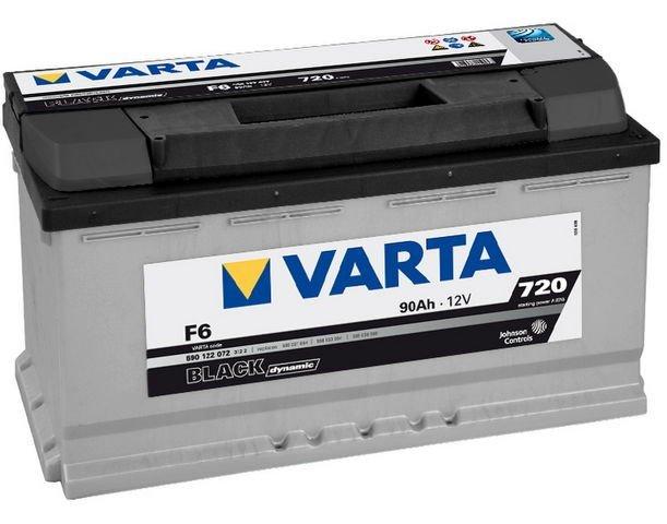 Аккумуляторная батарея Varta Black Dynamic 90Ач EN720А о.п. (353х175х190, B13) F6 / 590 122 072