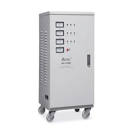 Стабилизатор SVC-3-90000, 90000ВА / 72000Вт, 380В, 45-60 Гц, 695*560*1280 мм