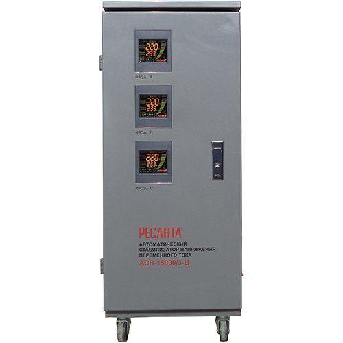Трехфазный стабилизатор  напряжения Ресанта ACH-15000 /3 ЭМ