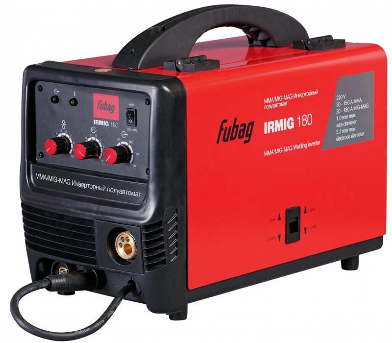 Сварочный аппарат для полуавтоматической сварки (MIG/MAG) инверторного типа Fubag IRMIG 180