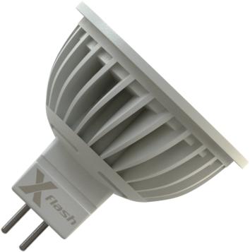 Светодиодная (LED) лампа X-Flash SPOTLIGHT MR16 GU5.3 5W(5вт),желтый свет 3000K,световой поток 350лм, 220V(в) (43033)