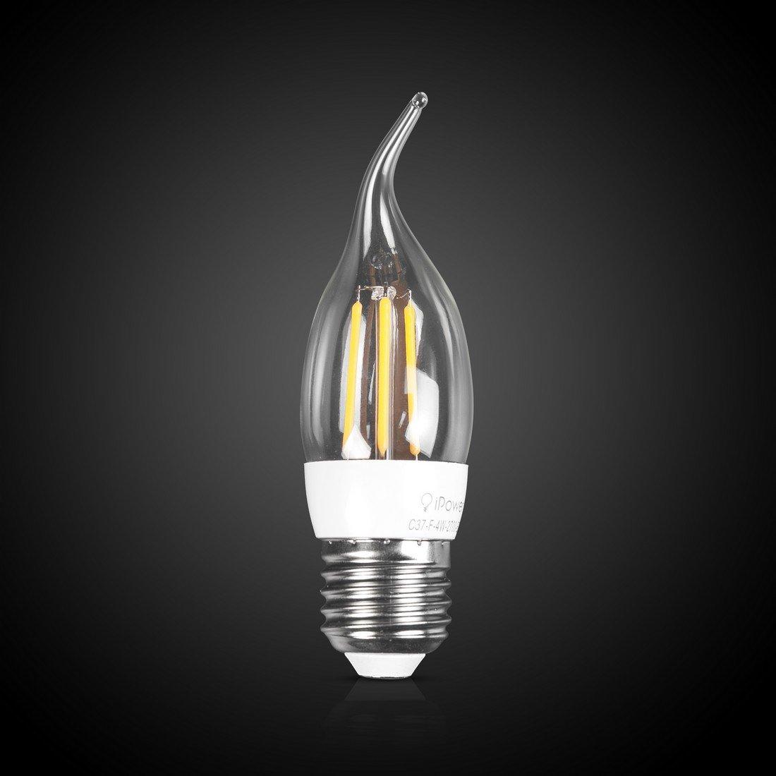 LED Лампа iPower Filament C37-F-4W-2700-E27