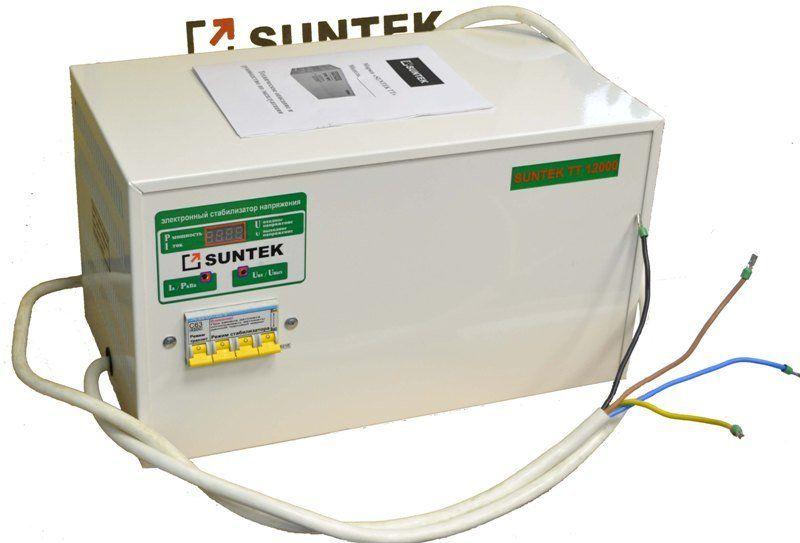 Стабилизатор напряжения симисторный (тиристорный)  SUNTEK ТТ 12000 ВА 130-270 Вольт