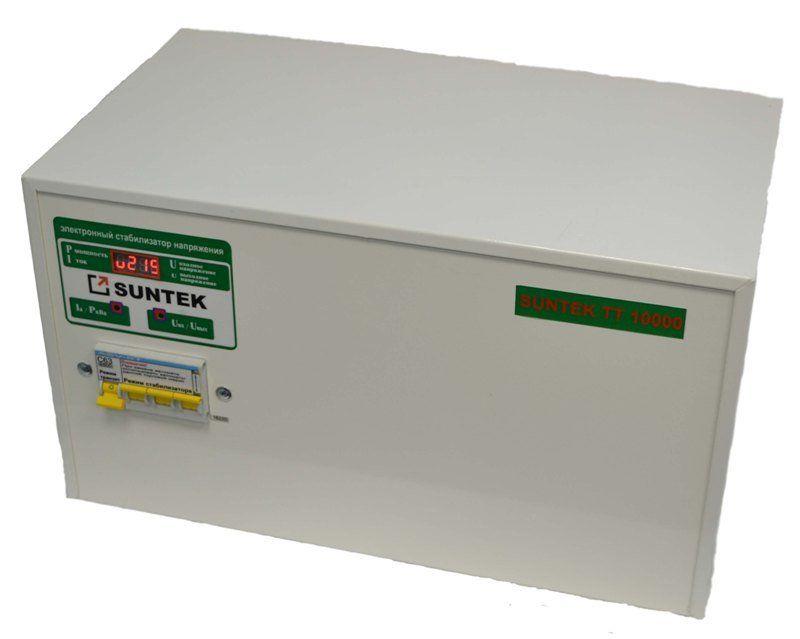 Стабилизатор напряжения тиристорный (симисторный) SUNTEK ТТ 15000 ВА 130-270 Вольт