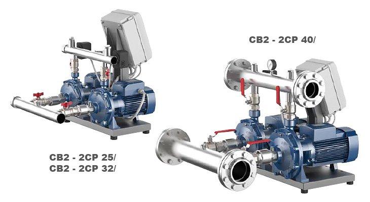 Станция поддержания давления Pedrollo COMBIPRESS CB2-2CPm 25/14B
