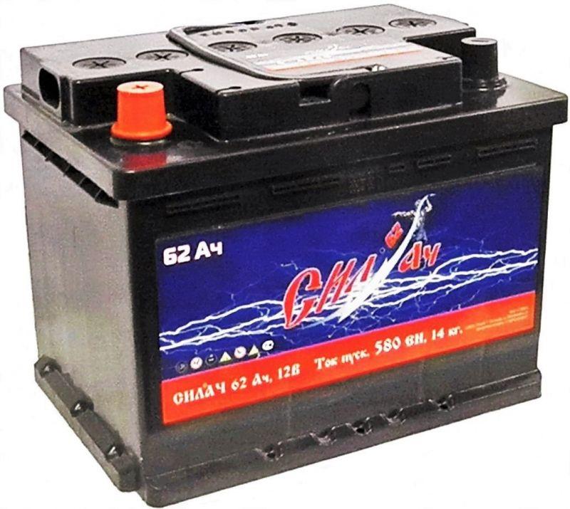 Аккумуляторная батарея Силач СИЛ 62Ач EN580А п.п. (242х175х190, B13)