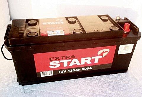 Аккумуляторная батарея Extra Start 135 6СТ-135N R+ (A)