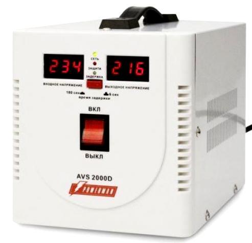 Однофазный стабилизатор напряжения POWERMAN AVS 2000D