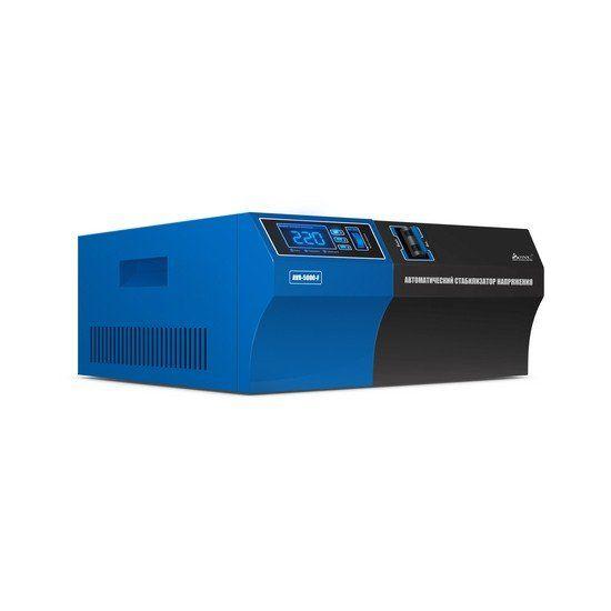 Стабилизатор SVC AVR-5000-F, 5000ВА / 5000Вт, 220В, 50 Гц, чёрно-синий, 315*255*120 мм