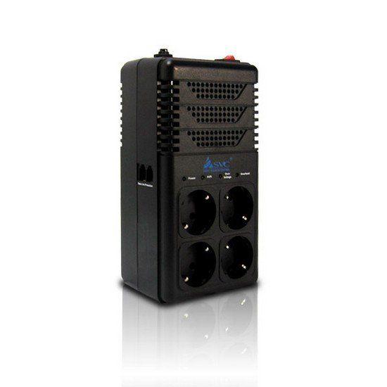 Стабилизатор SVC AVR-1008-G, 800ВА / 480Вт, 220В, 50 Гц, чёрный, 275*118*98 мм