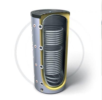 Буферная емкость для нагревательной установки с двумя теплообменниками TESY V 12S/9 S2 800 99 F43 P6