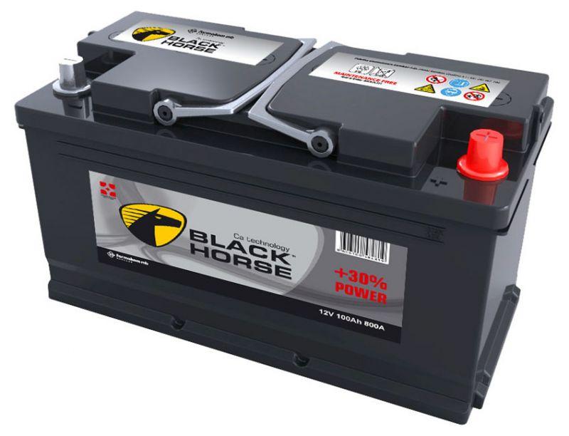Аккумуляторная батарея 100 Black horse 12V 100Ah +L