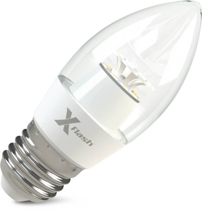 Светодиодная (LED) лампа X-Flash Candle E27 CF 6.5W(6.5вт),белый свет 4000K,световой поток 520лм, 220V(в) (45983)